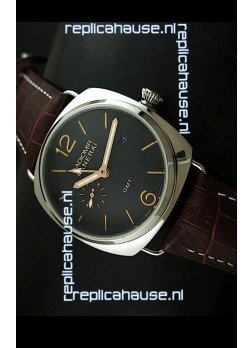 Panerai Radiomir PAM421 GMT Japanese Replica Watch in Black Dial