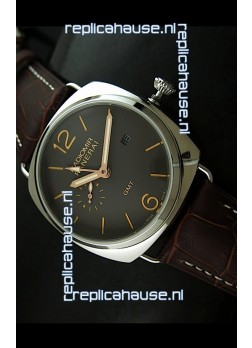 Panerai Radiomir GMT Japanese Replica Watch in Off Black Dial