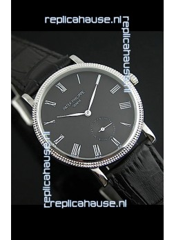 Patek Philippe Calatrava Japanese Mens Watch in Black Dial