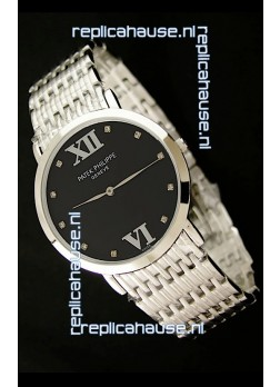 Patek Philippe Geneve Men Japanese Watch in Black Dial