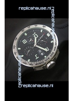Porsche Design Flat Six P'8340 Swiss Chronograph Watch in Black Dial