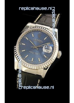 Rolex Datejust Mens Japanese Replica Watch in Blue Dial
