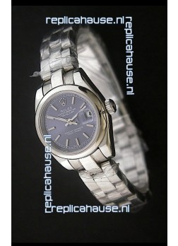 Rolex Datejust Oyster Perpetual Superlative ChronoMeter Swiss Watch in Blue Dial
