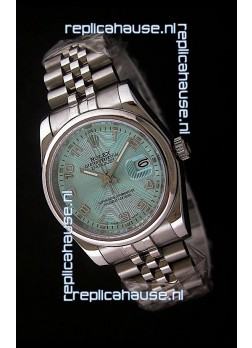 Rolex Datejust Mens Swiss Replica Watch in Light Blue Dial