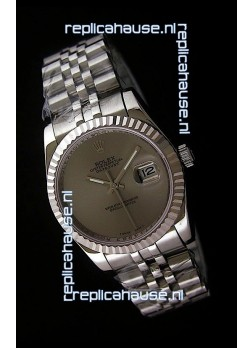 Rolex Datejust Mens Swiss Replica Watch in Grey Dial