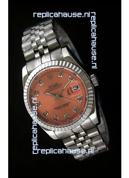 Rolex Datejust Mens Japanese Replica Watch in Orange Dial