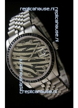 Rolex Datejust Mens Japanese Replica Watch in Leopard Dial