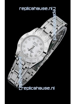 Rolex Datejust Ladies Japanese Replica Ladies Watch in Diamond Markers