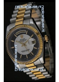 Rolex Day Date Just JapaneseReplica Two Tone Gold Watch