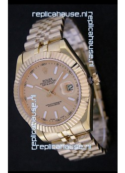 Rolex Datejust Japanese Replica Rose Gold Watch