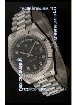 Rolex Oyster Perpetual Day Date Japanese Replica Watch in Black Dial