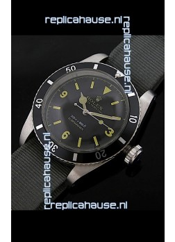 Rolex Submariner Swiss Replica Watch in Domed Crystal Grey Nylon Strap