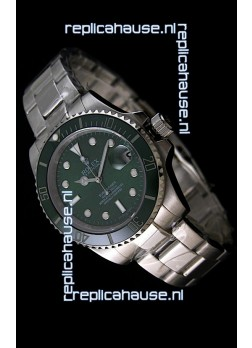 RolexSubmariner Swiss Gold Watch in Green Dial with Green Ceramic Bezel