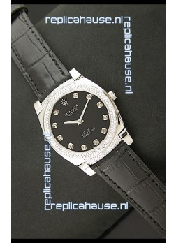 Rolex Cellini Japanese Replica Watch in Diamond Hour Markers