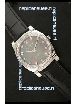 Rolex Cellini Japanese Replica Watch in Mother of Pearl Green Dial