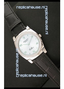 Rolex Cellini Japanese Replica Watch in Lilac Blue Dial