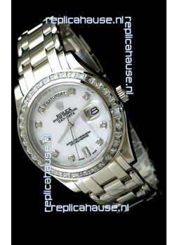 Rolex Oyster Perpetual Day Date Japanese Automatic Watch in Mop White Dial
