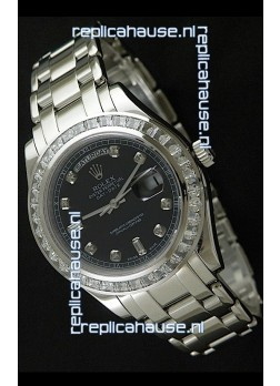 Rolex Oyster Perpetual Day Date Japanese Automatic Watch in Black Dial