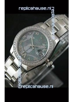 Rolex Oyster Perpetual Date Just Lady Swiss Diamond Watch