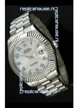 Rolex Replica Datejust Mens Swiss Watch in Arabic Numerals Dial - 41MM