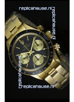 Rolex Daytona 6265 Cosmograph Black Dial in Gold Case