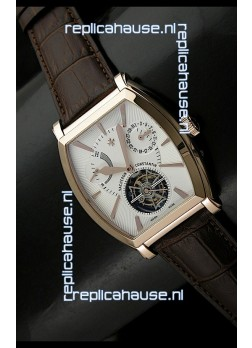 Vacheron Constantin Power Reserve Tourbillon Swiss Watch in Rose Gold