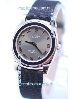 Rolex Cellini Cestello Ladies Swiss Watch in Grey Silver Face