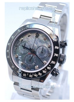 Rolex Project X Daytona Limited Edition Series II Cosmograph MonoBloc Cerachrom Swiss Watch in Black Pearl Dial