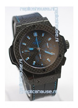 Hublot Big Bang All Carbon Swiss Replica Watch in Blue