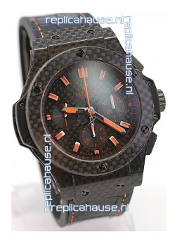 Hublot Big Bang All Carbon Swiss Replica Watch in Orange