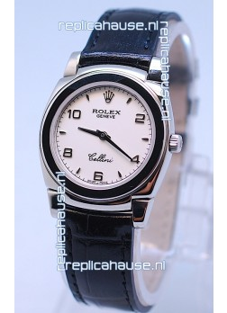 Rolex Cellini Cestello Ladies Swiss Watch in White Dial